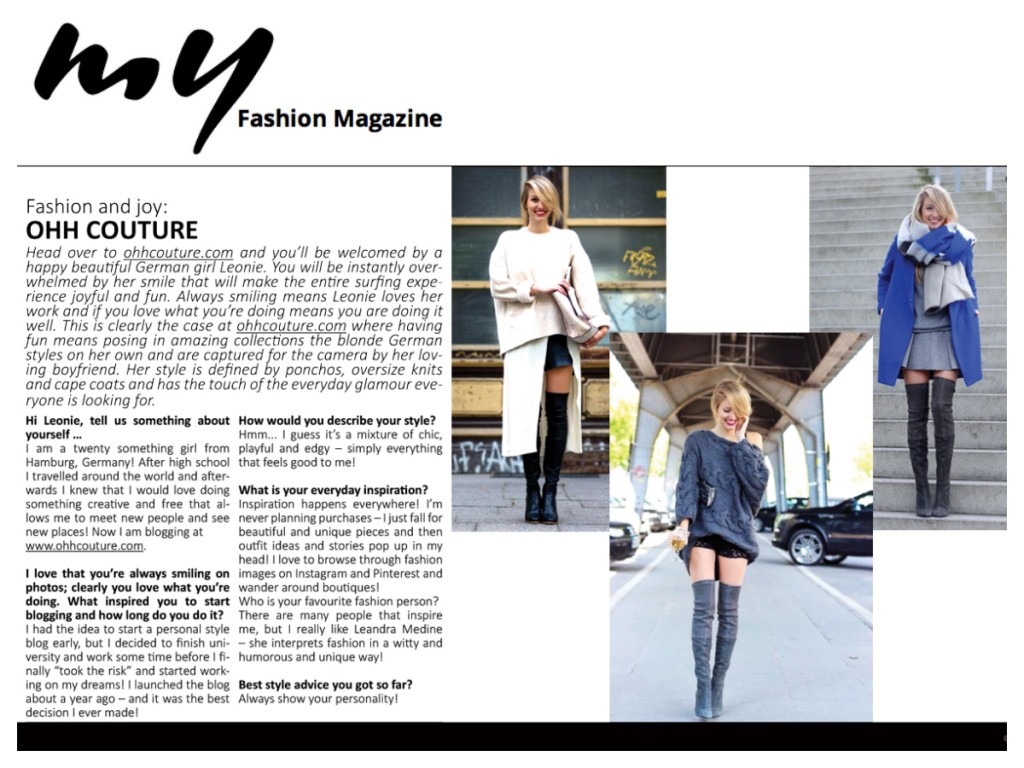 My fashion magazine