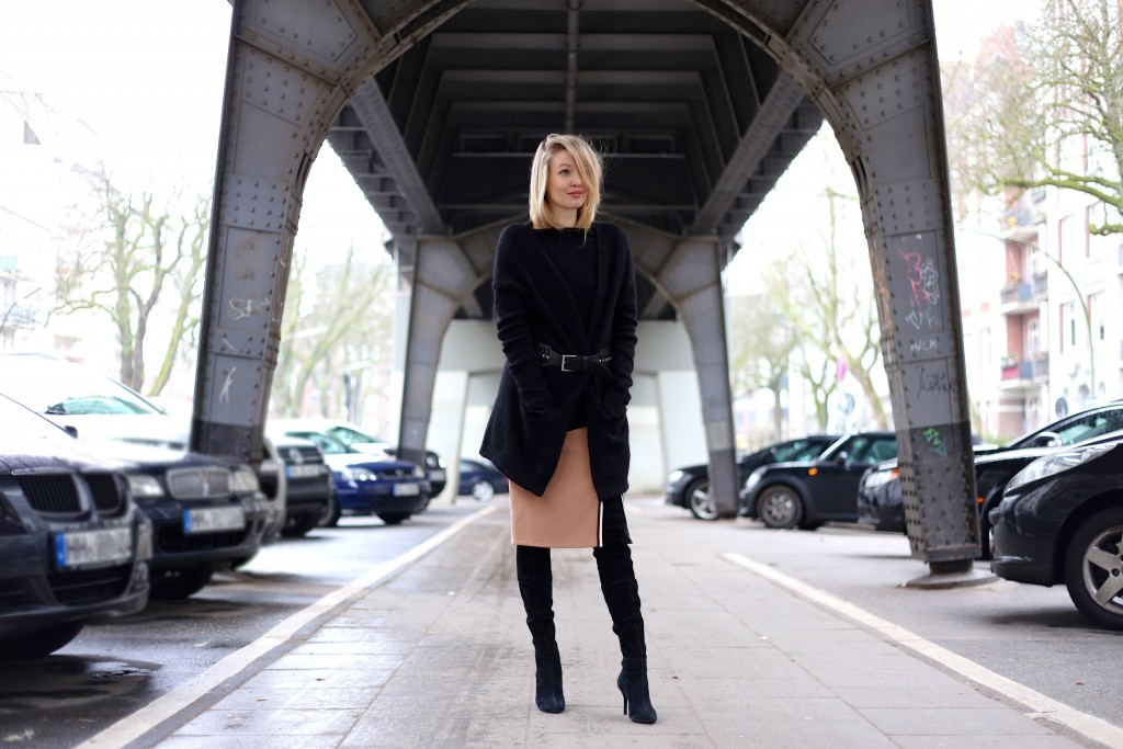 Belted black & the new skirt