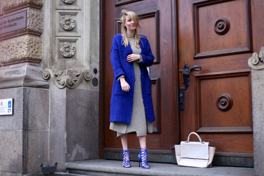 All knitted & a pop of blue