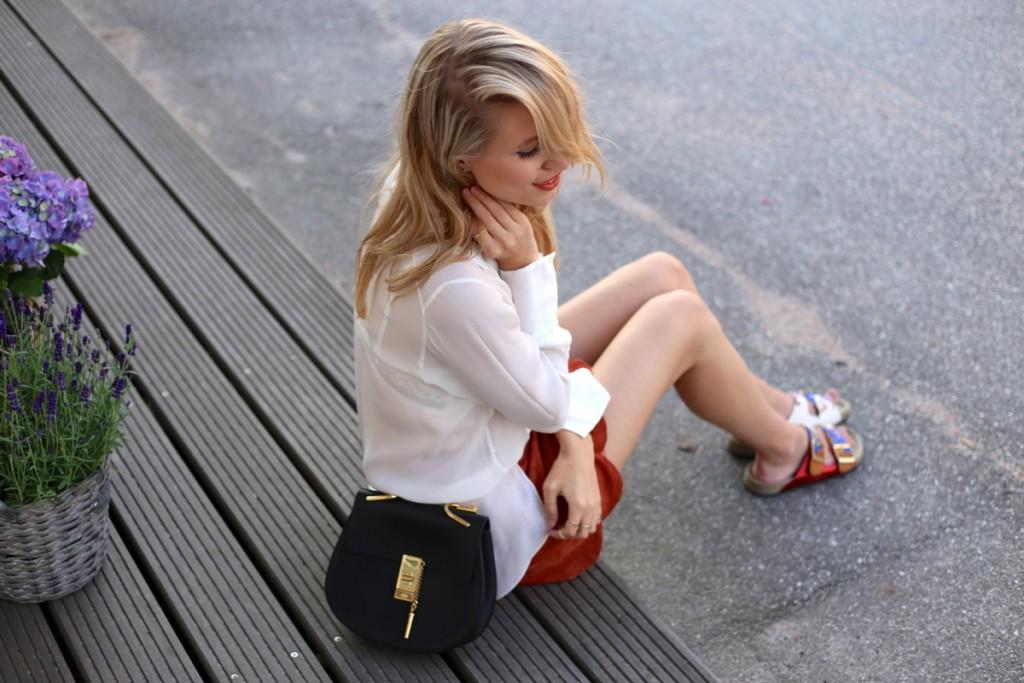 Isabel marant sandals & Suede skirt
