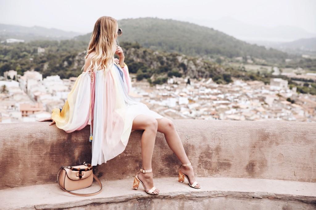 Chloé rainbow dress | Pollenca, Mallorca