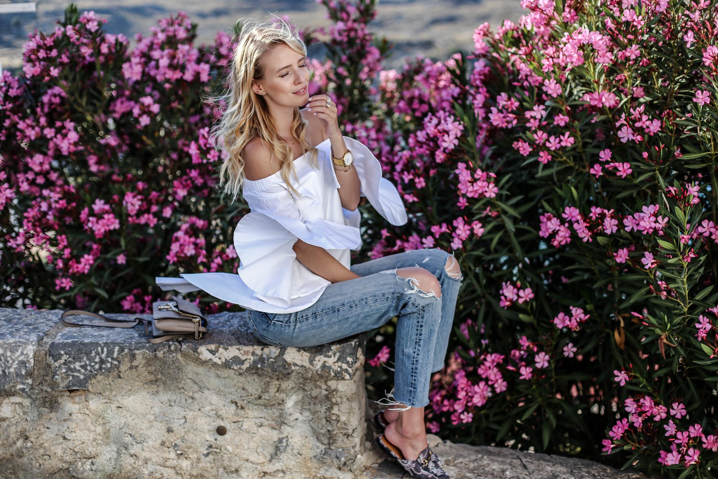 Donkeys, sleeves & Gucci slipper | Lindos, Greece