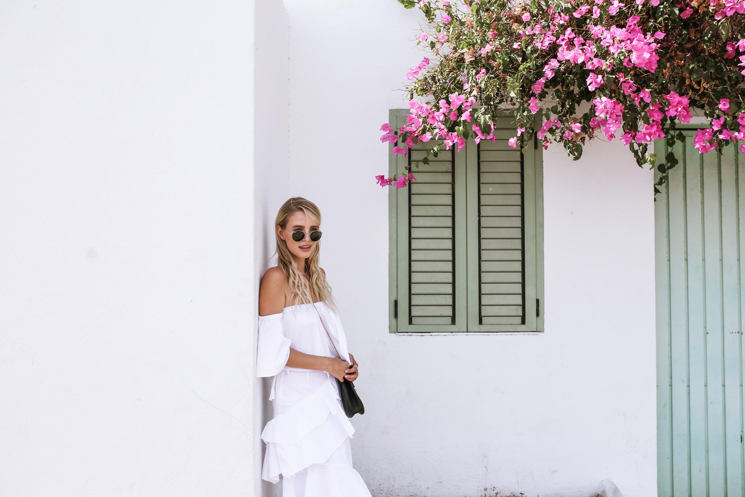 ALL WHITE & MIU MIU FLATS | IBIZA, SPAIN