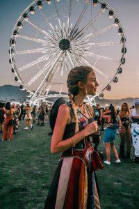Leonie at famous Coachella wheel