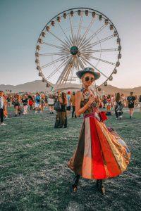 Leonie at famous Coachella wheel in Dior