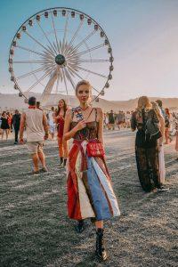 Leonie Hanne in Dior at Coachella