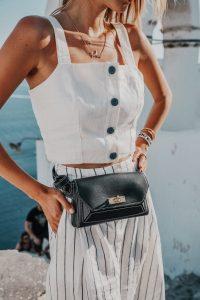 Black Bally bag Santorini