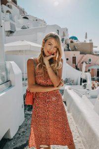 Leonie Hanne Faithfull dress in Santorini