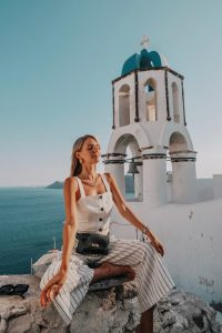 Leonie Hanne x Bally Belt bag in Santorini