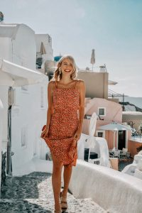 Ohh Couture happy in red Santorini outfit