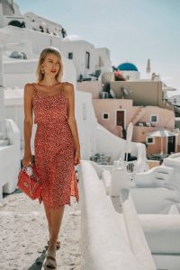 Ohh Couture red Santorini outfit