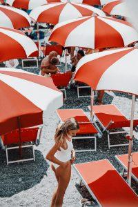Hunza G white swimsuit