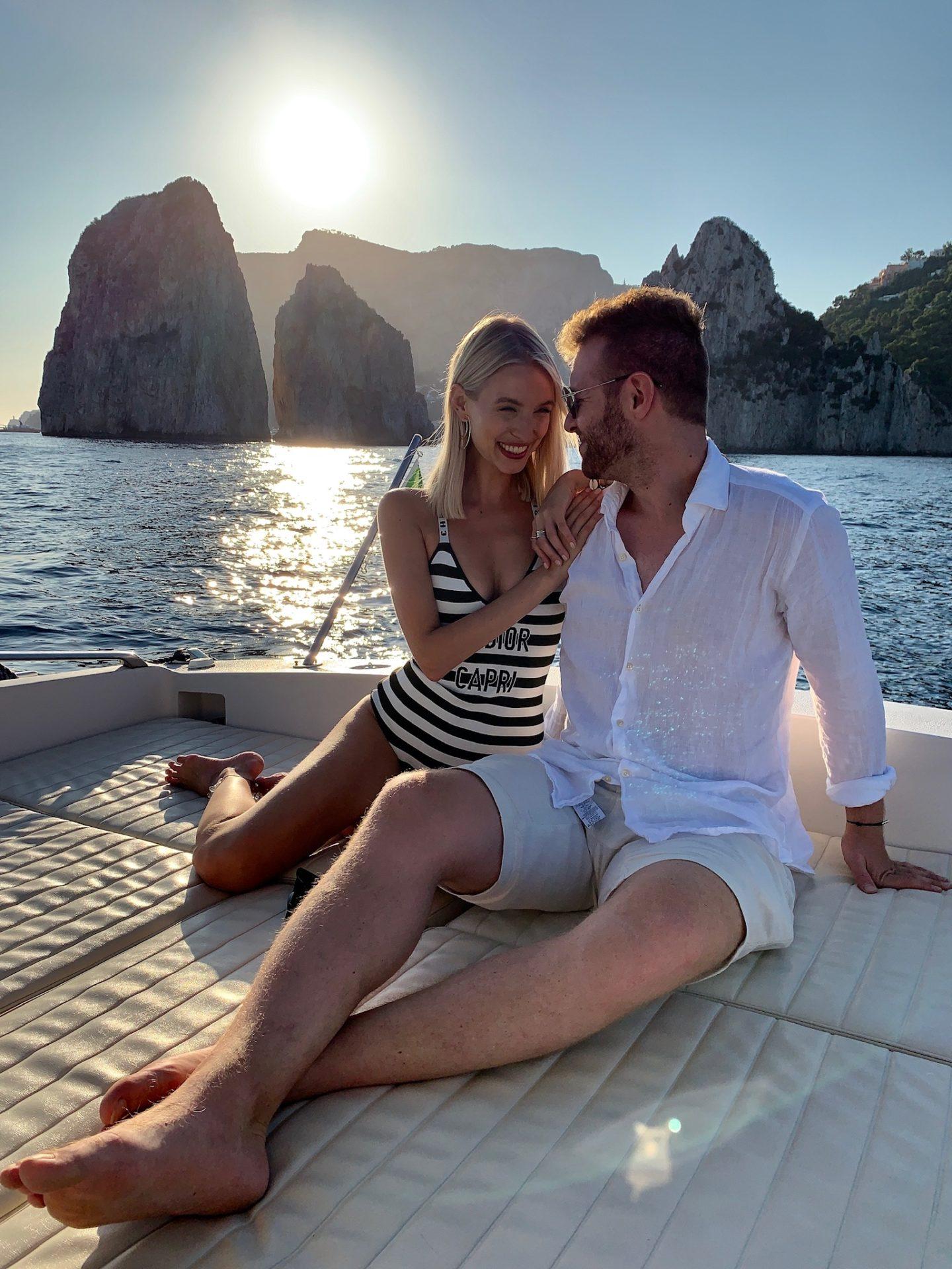 Leonie and Alex Boat to Capri