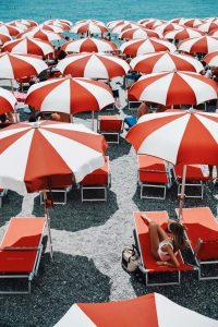 Leonie and umbrellas