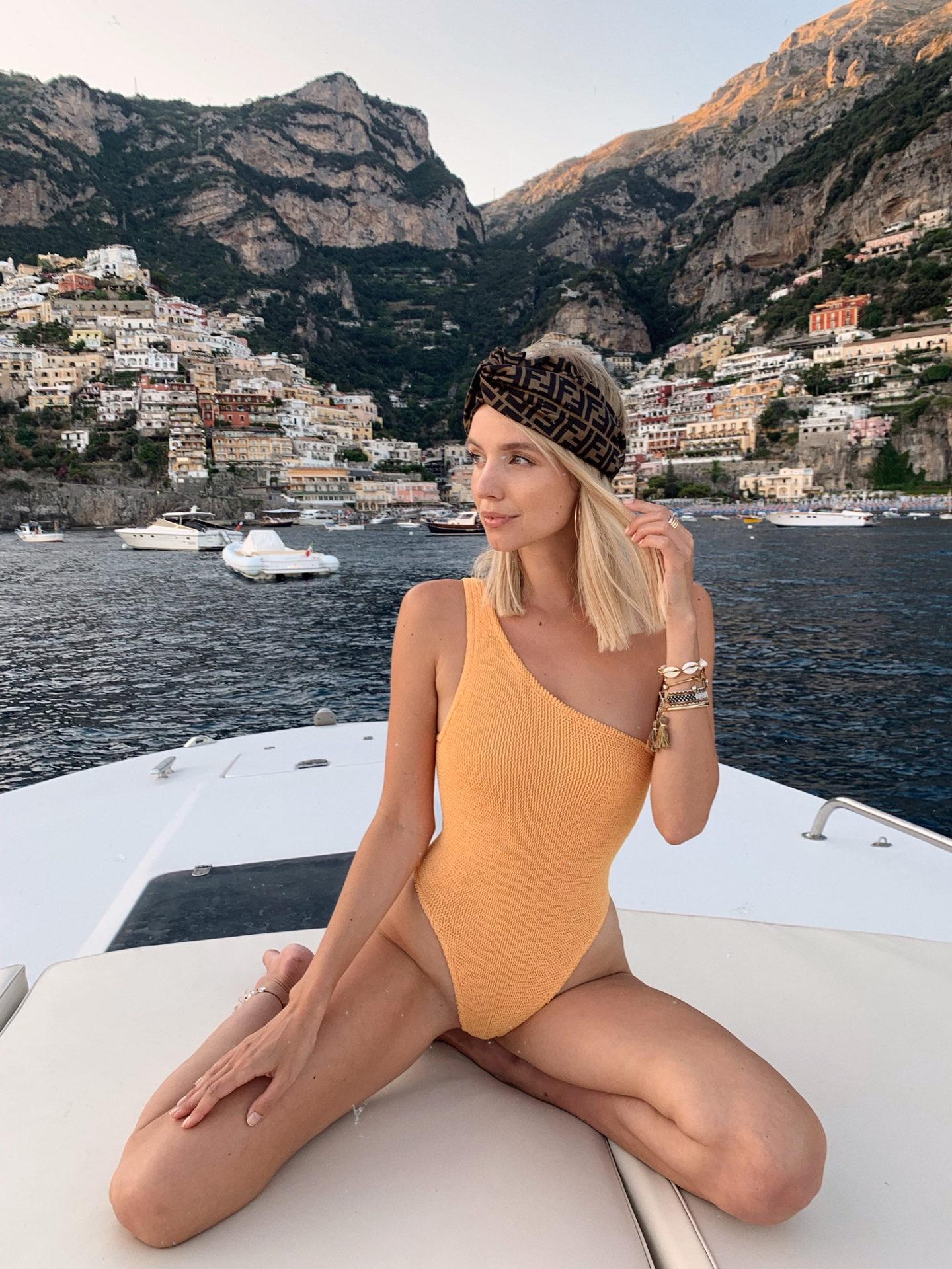 Leonie Hanne Positano Boat Ride