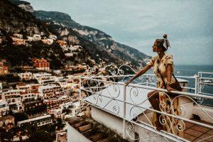 Leonie Hanne yellow dress in Positano