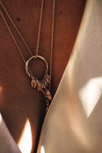 Gold Pandora necklace