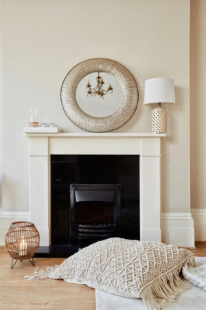 Leonie Hanne Westwing and fireplace
