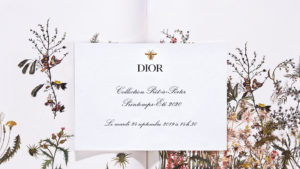Dior spring summer 2020 show invitation