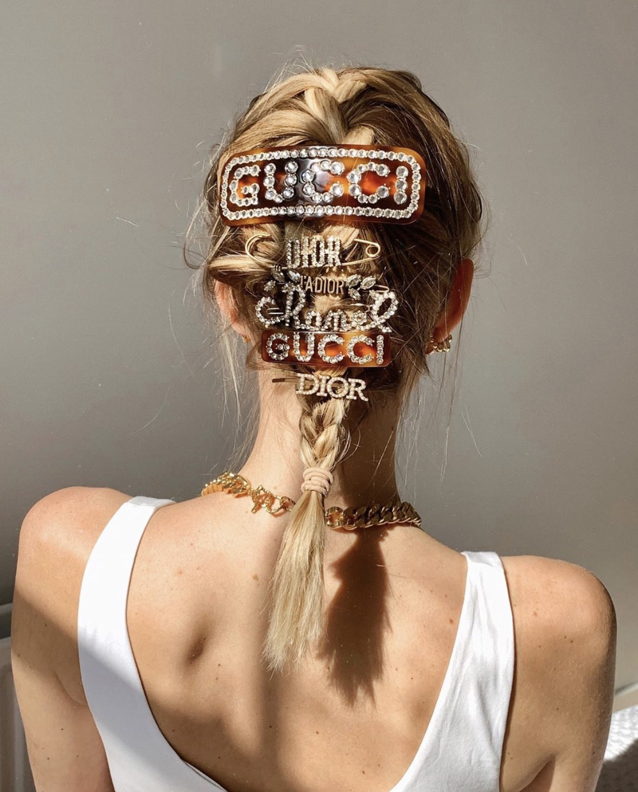 Branded hairpins and braids