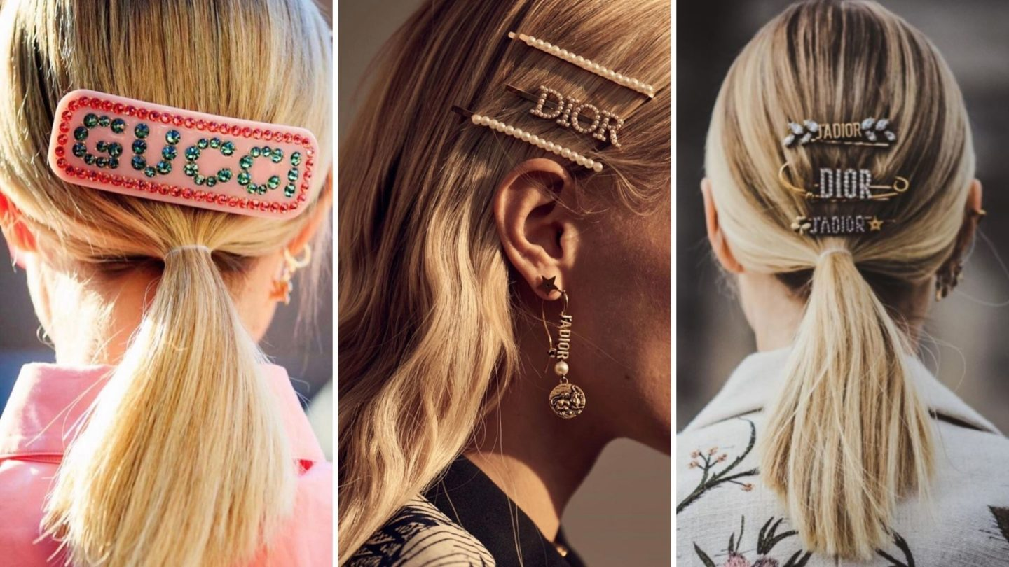 Hair accessories trend collage
