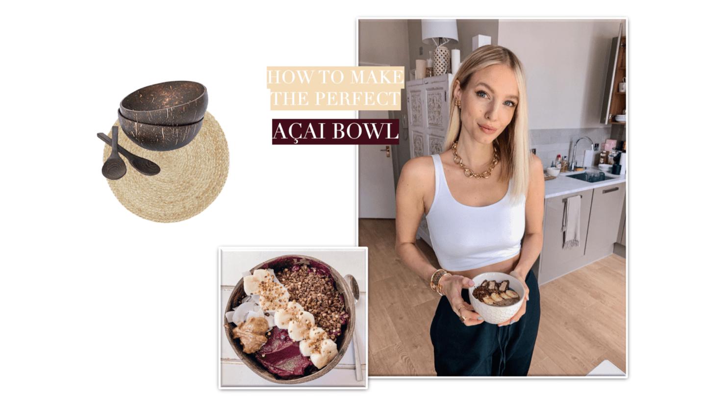 Leonie Hanne Acai bowl collage