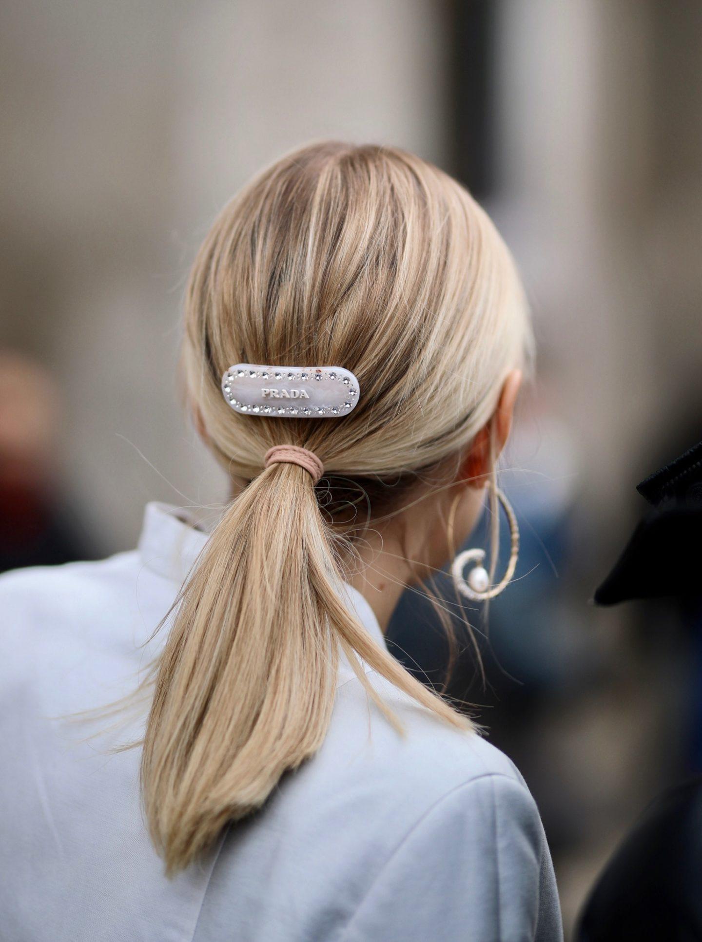 Prada white hair clip