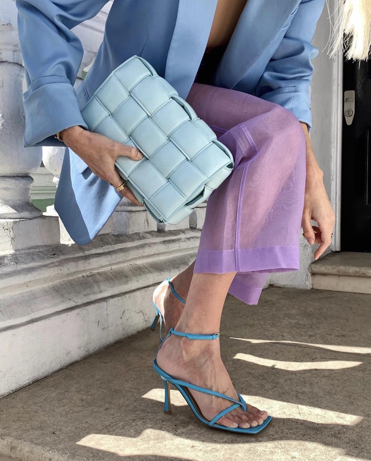 Turquoise Bottega Strappy Sandals