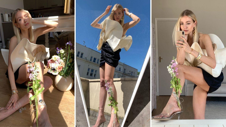 Magda Butrym flower mood collage