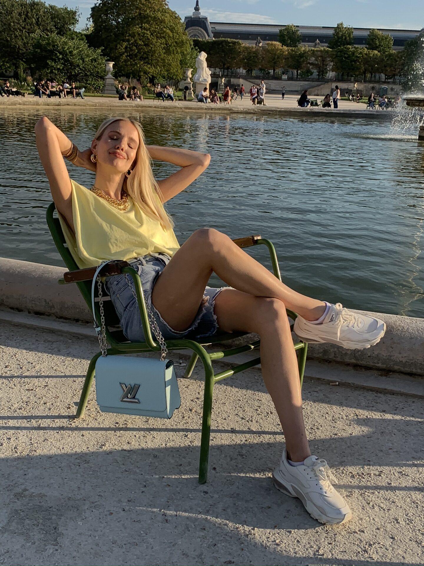 Jardin Tuileries golden hour