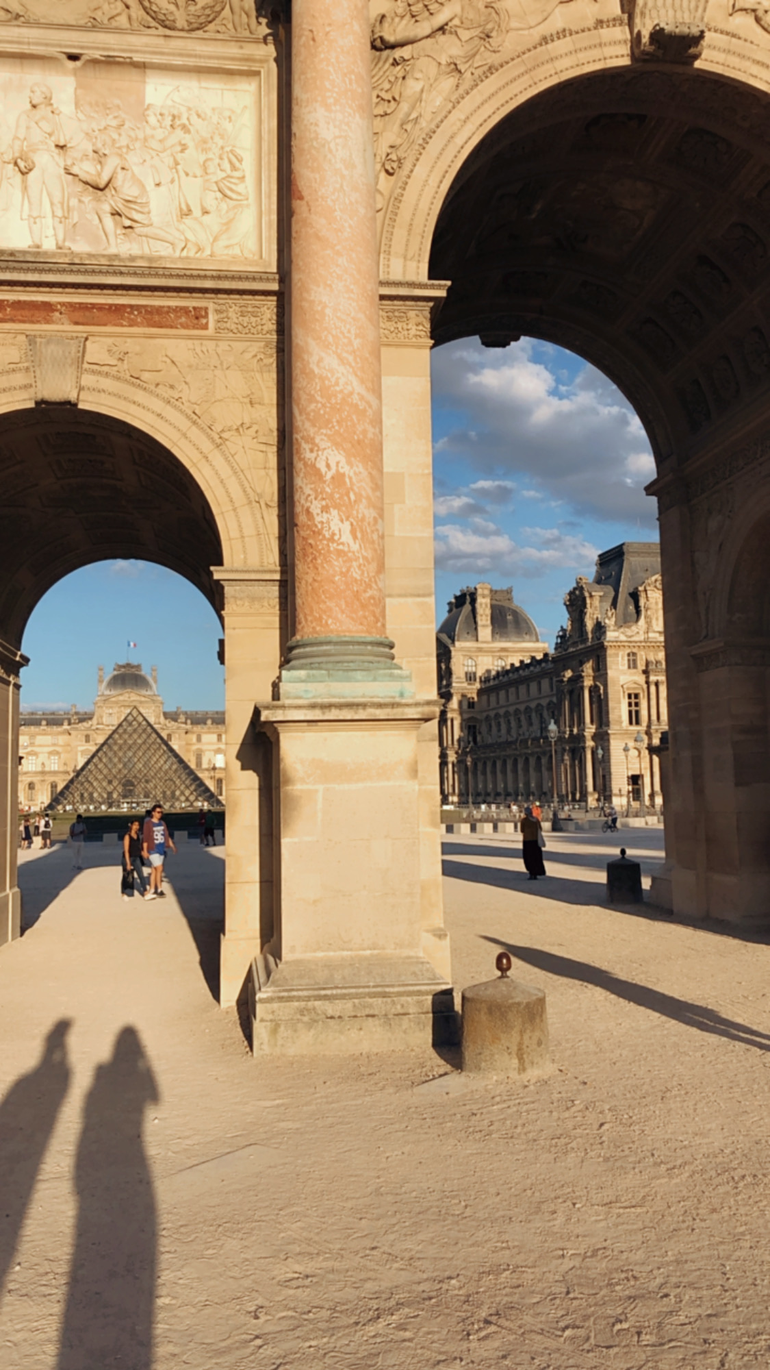 Louvre golden hour