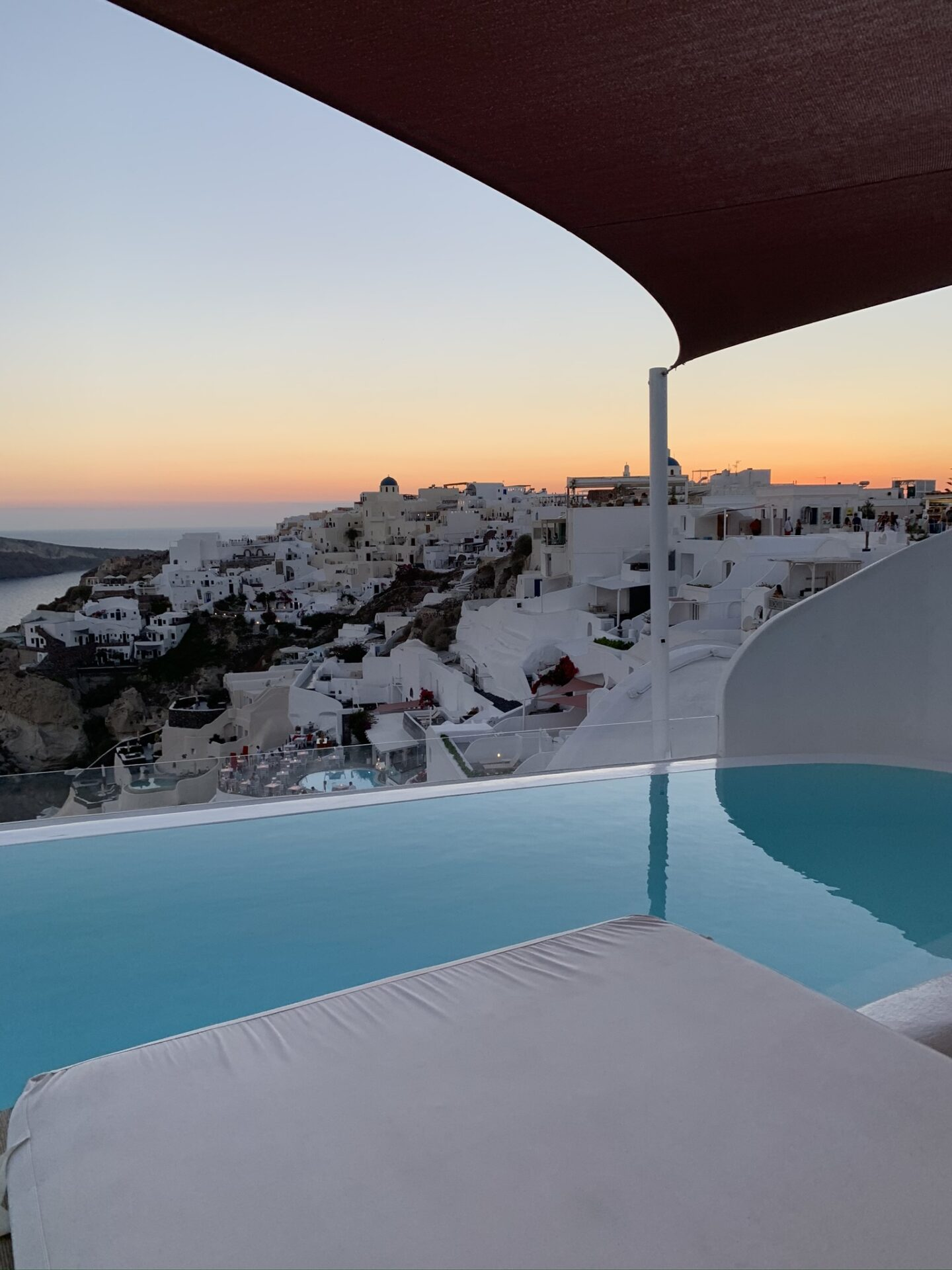 Andronis Suites at sunset