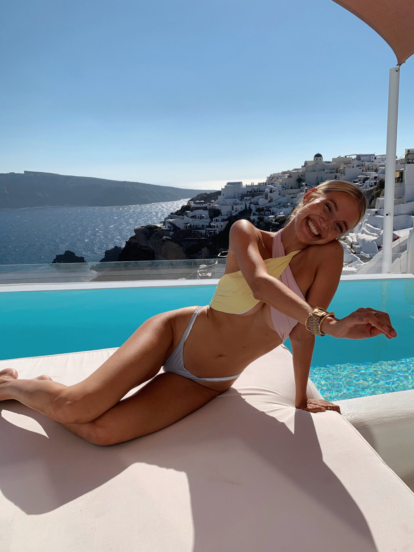 Leonie Hanne at Andronis Luxury Suites