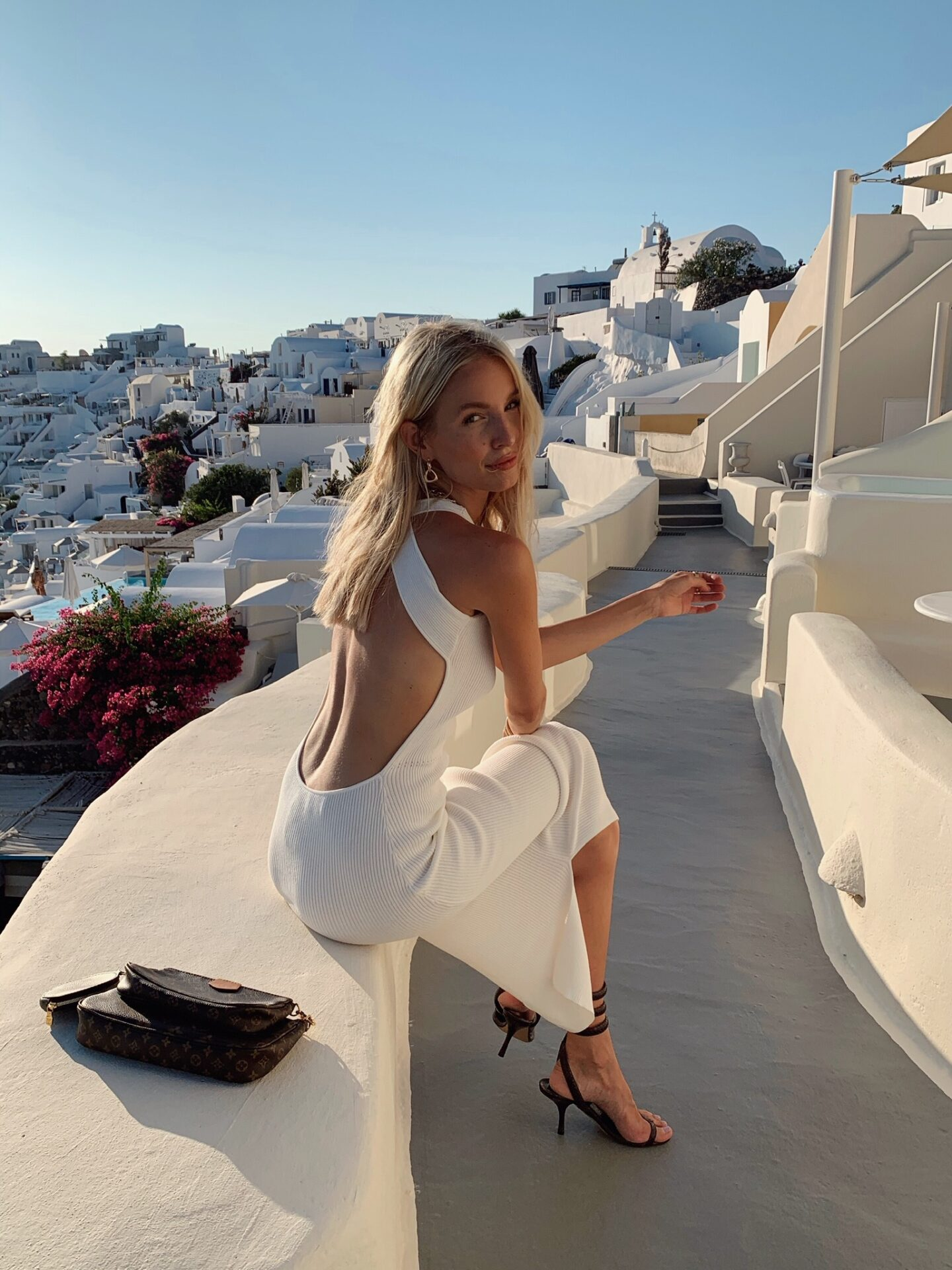 Sir The Label white dress Santorini