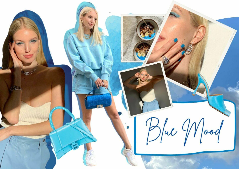 Blue Colour Moods collage